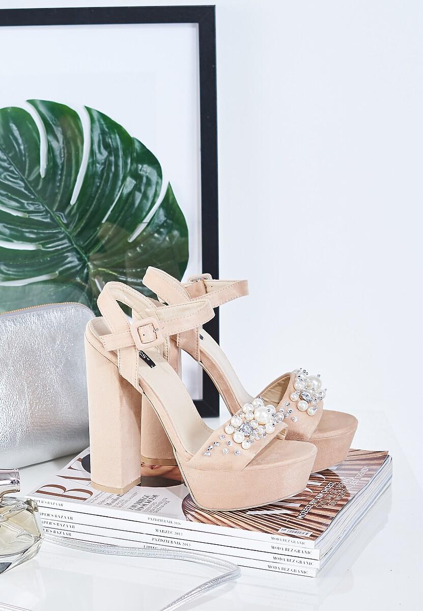 Beżowe Sandały Perfect Design