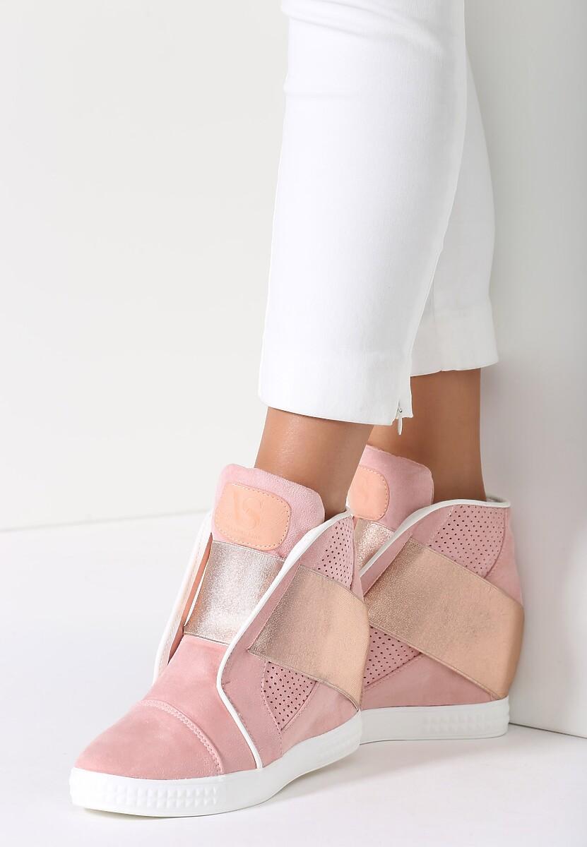 Różowe Sneakersy Comfortable Depths