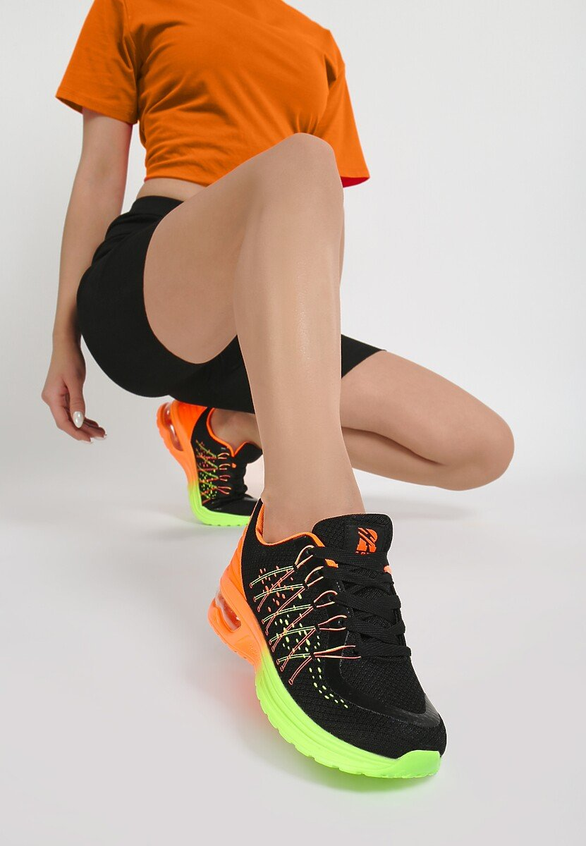 Czarne Buty Sportowe Zalij