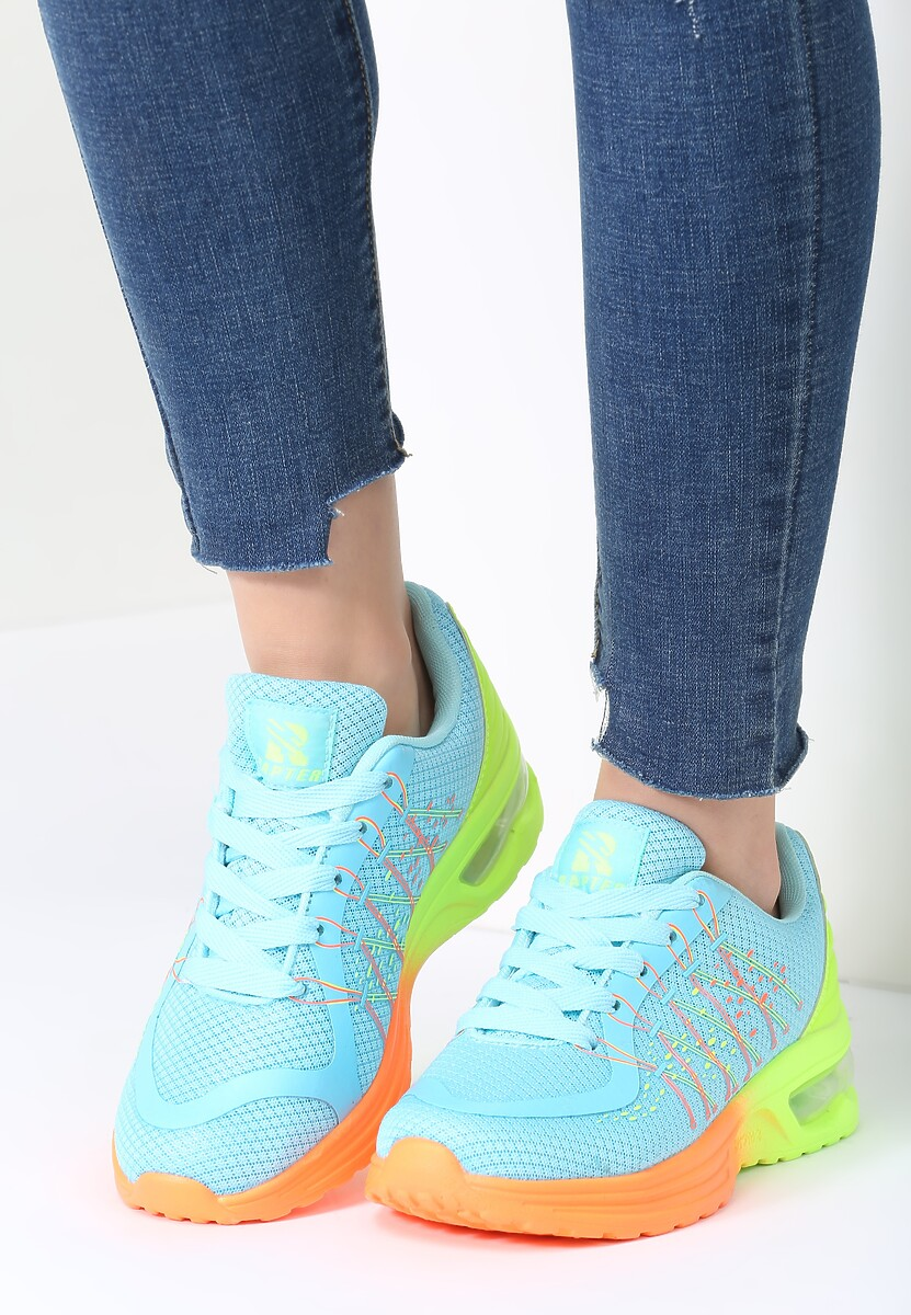 Niebieskie Buty Sportowe Zalij