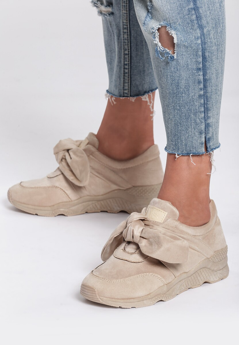 Beżowe Buty Sportowe Faithful Idea