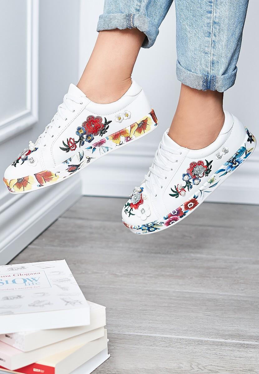 Białe Buty Sportowe Amused Rose