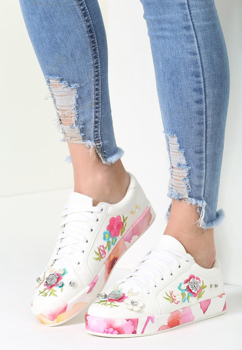 Biało-Różowe Buty Sportowe Amused Rose