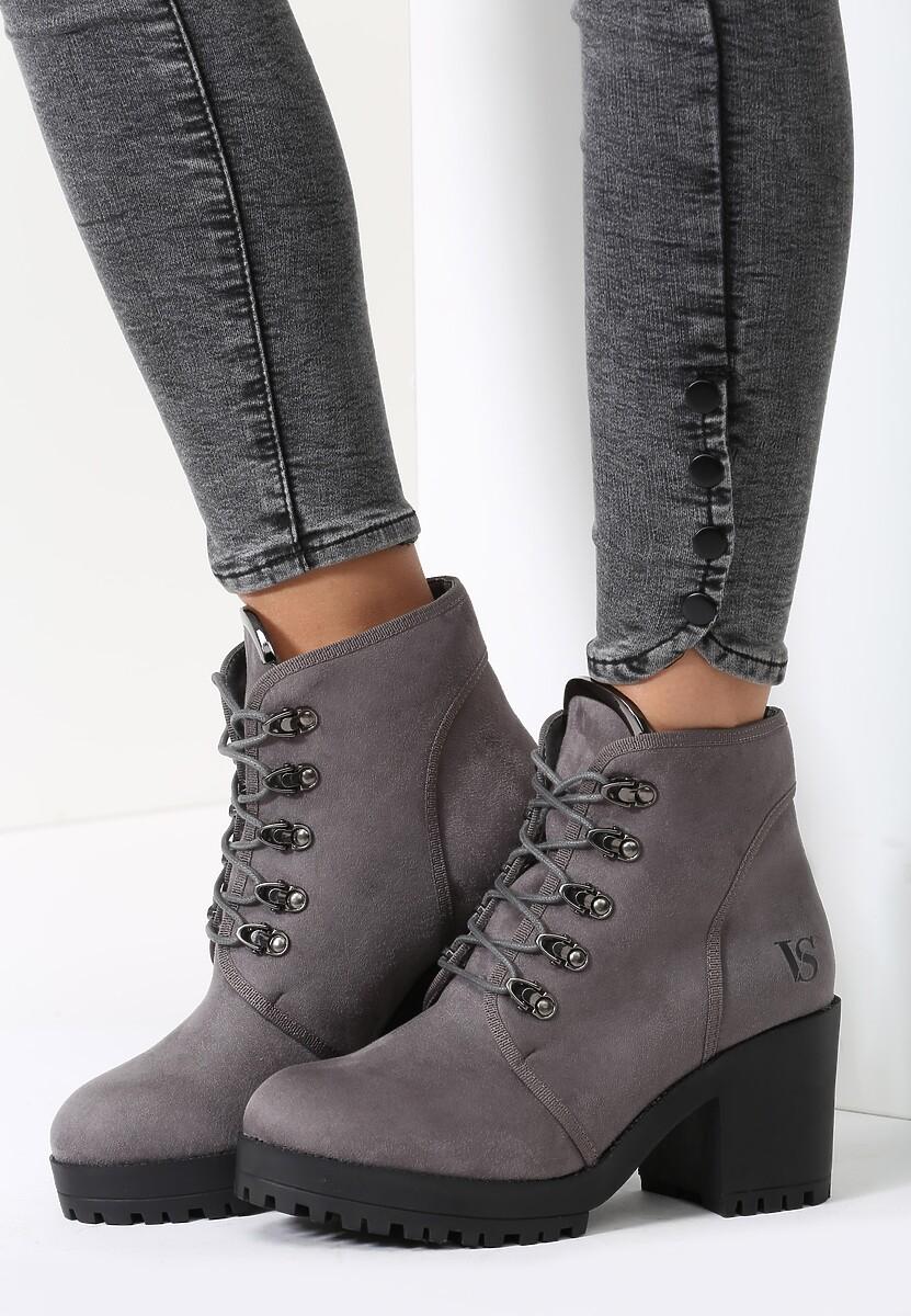 Szare Botki Jim Shoes