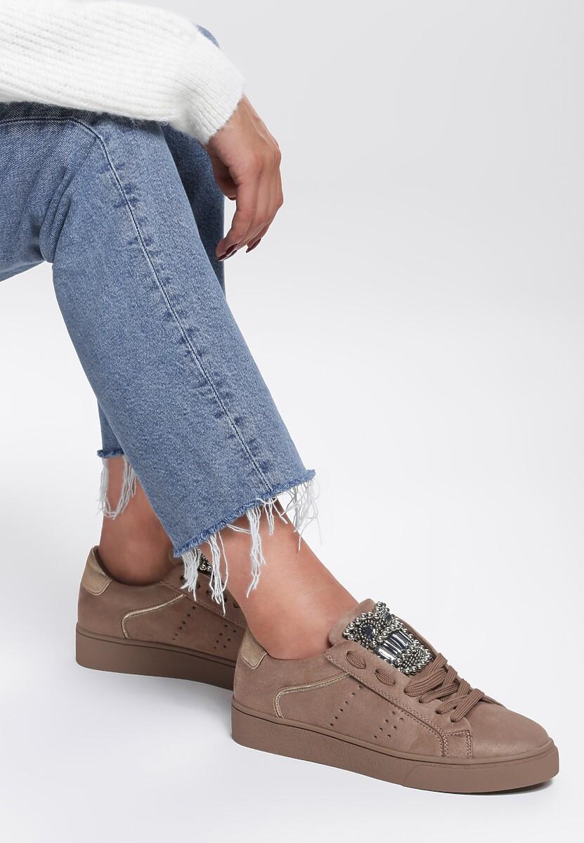 Beżowe Buty Sportowe Unique Rebell