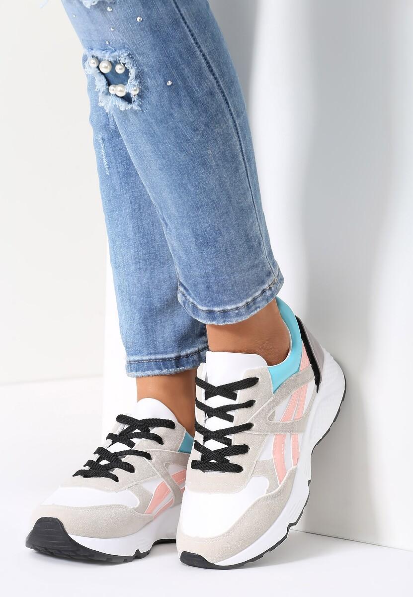 Biało-Szare Buty Sportowe Mini Firmament