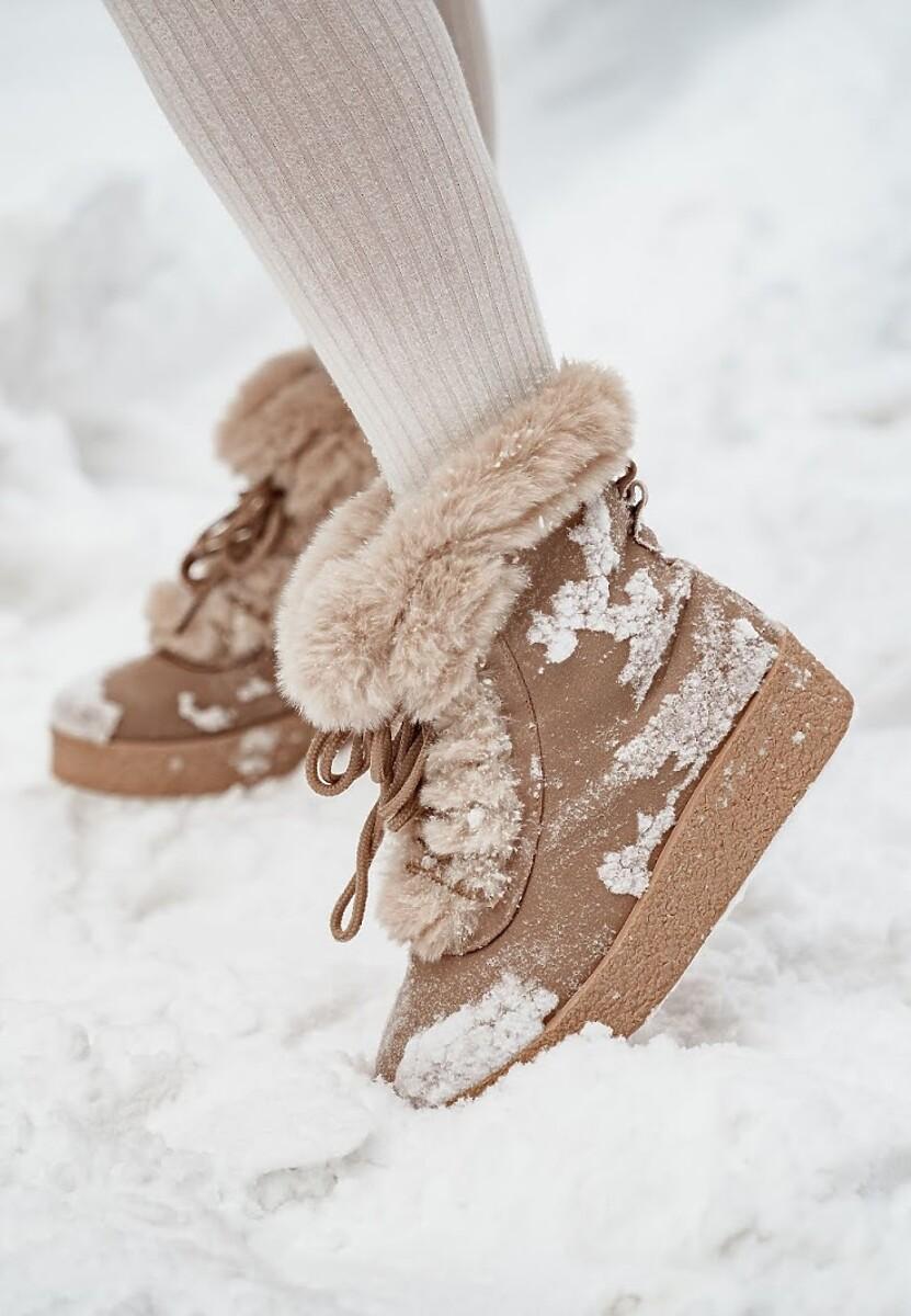 Beżowe Śniegowce Lovin' Youu Too Long