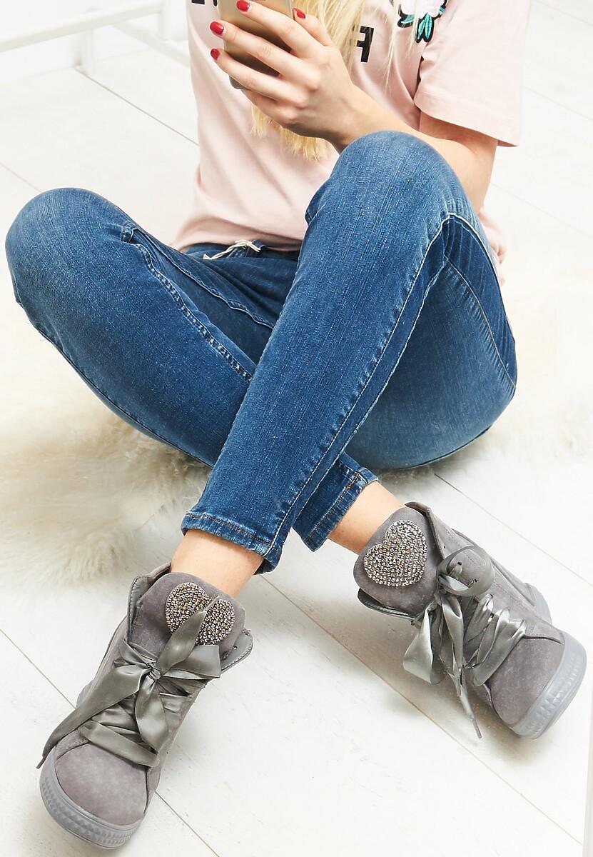 Ciemnoszare Sneakersy Feminine