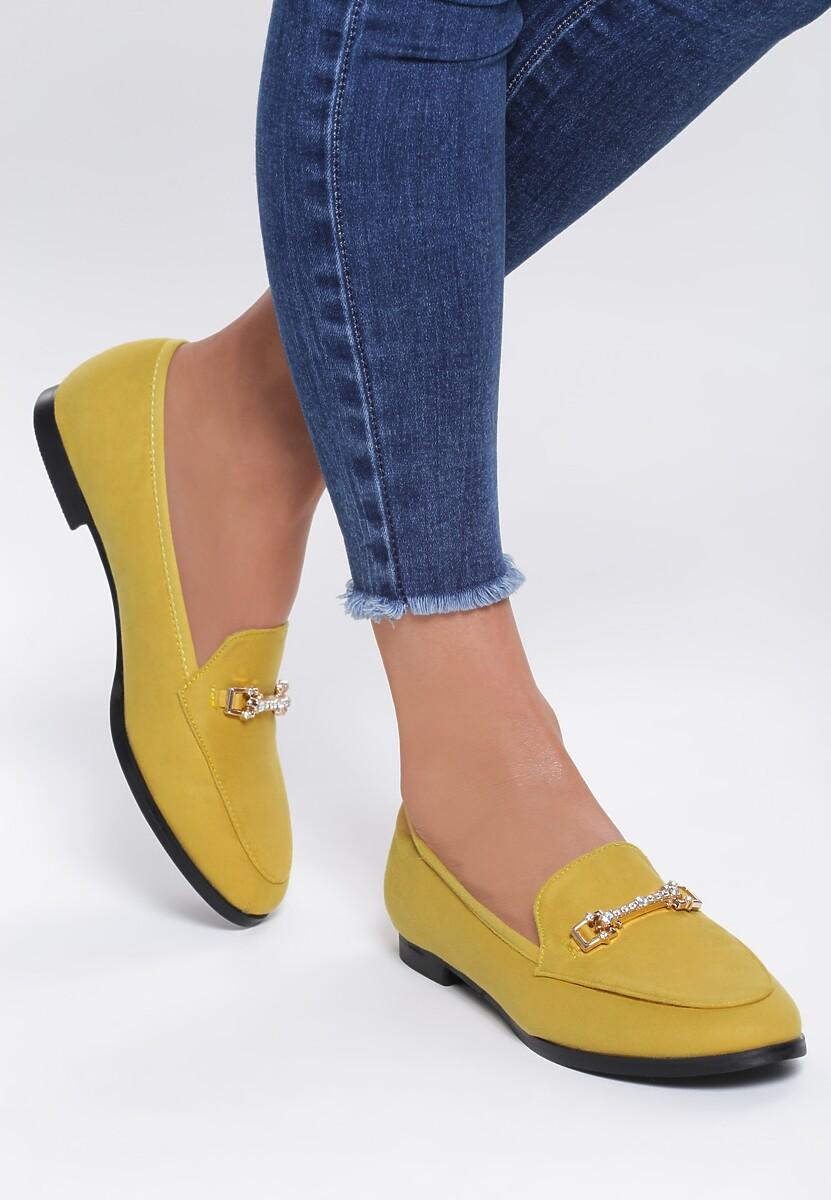 Żółte Mokasyny Timeless Chic