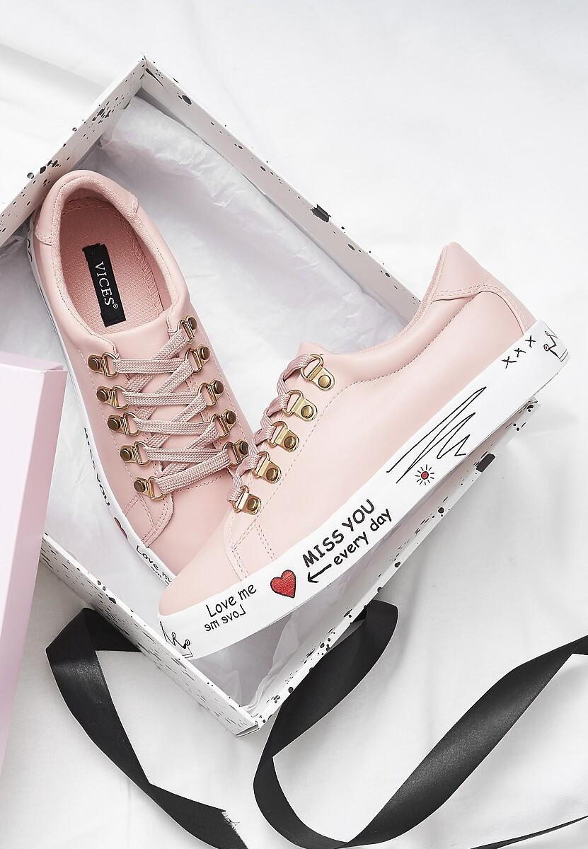 Różowe Buty Sportowe Please Love Me