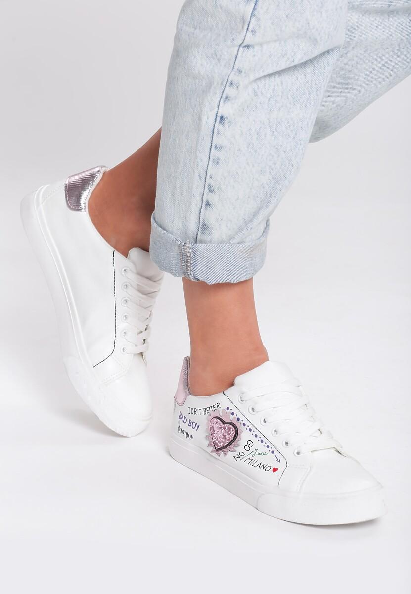 Biało-Różowe Buty Sportowe Go On