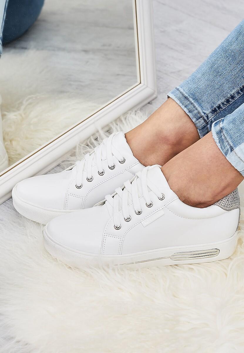 Białe-Srebrne Buty Sportowe Trip On Me