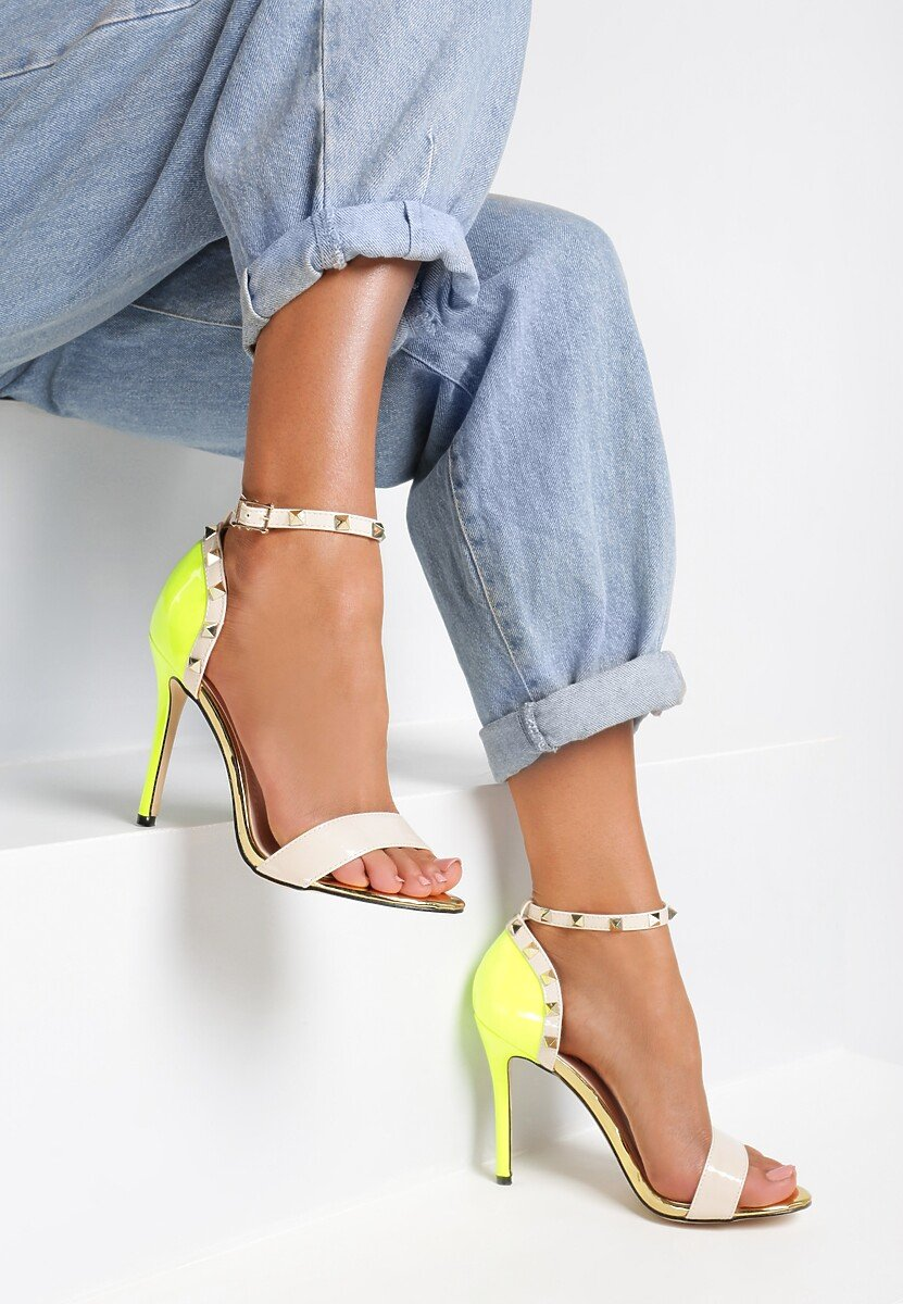Beżowo-Żółte Sandały Pictures Of Vogue