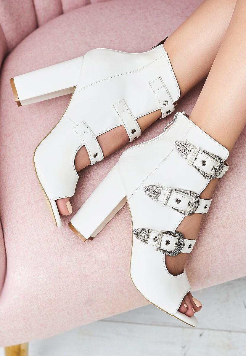 Białe Sandały It's a Trap