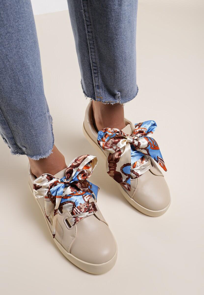 Beżowe Sneakersy La Bomba