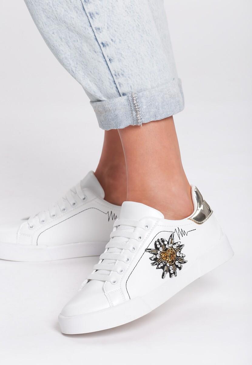 Biało-Złote Buty Sportowe Citrine