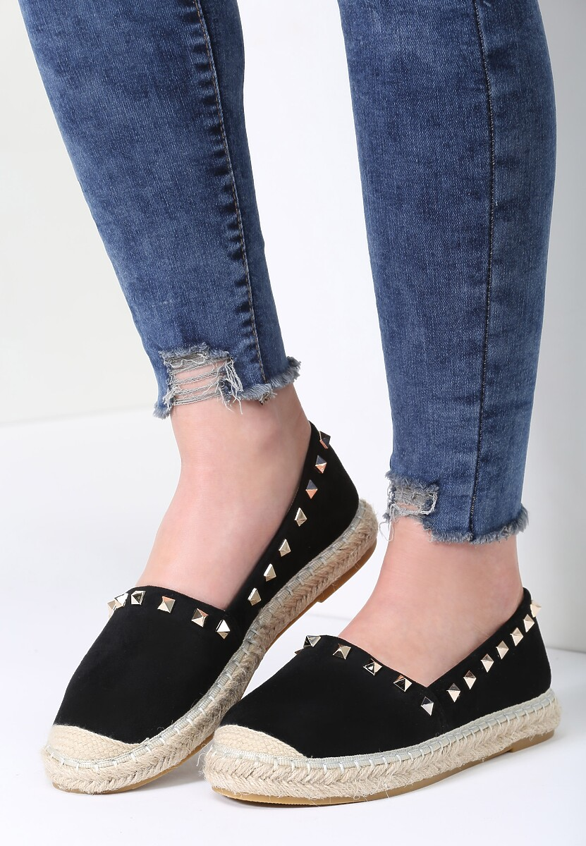 Czarne Espadryle We're in Love