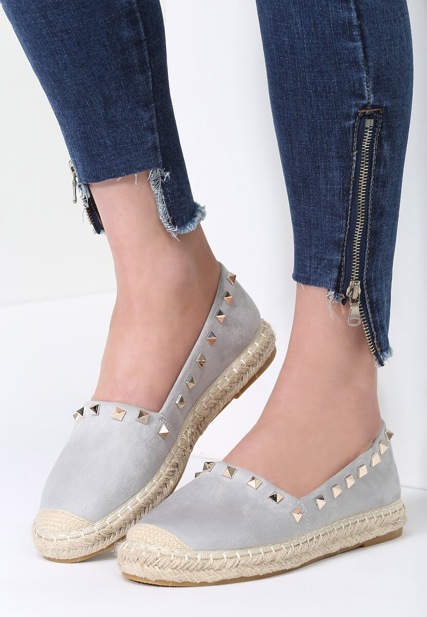 Szare Espadryle We're in Love
