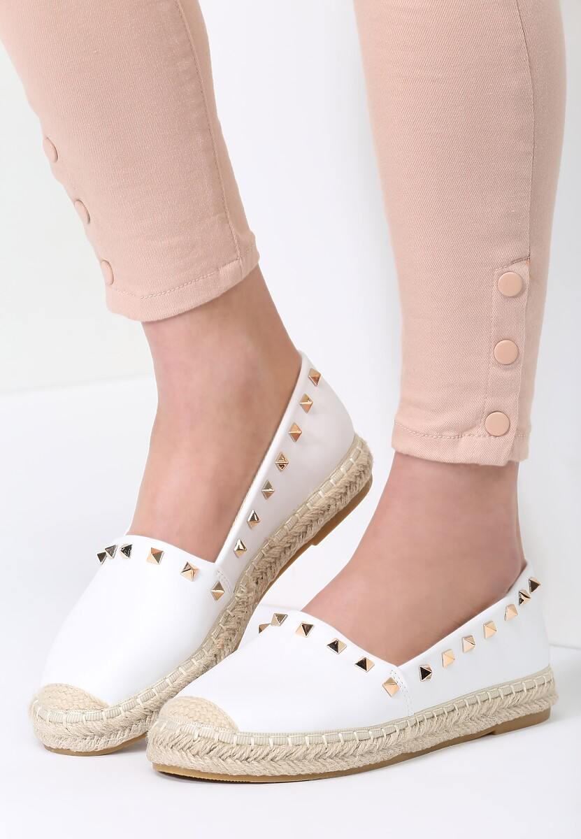 Białe Espadryle We're in Love