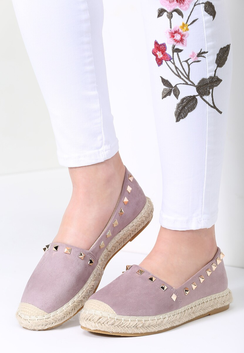 Fioletowe Espadryle We're in Love