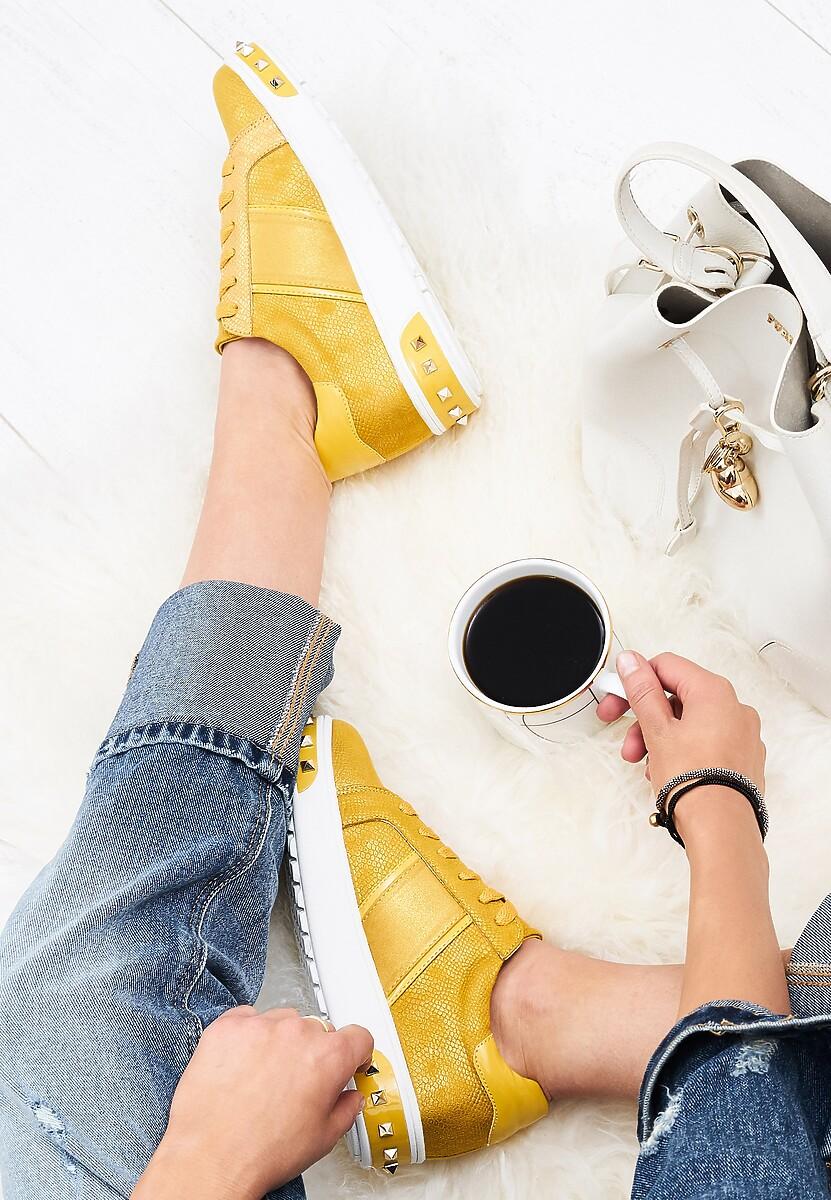 Żółte Buty Sportowe Amor De Mi Vida