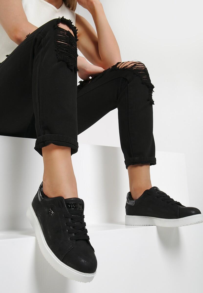 Czarne Buty Sportowe By The Time