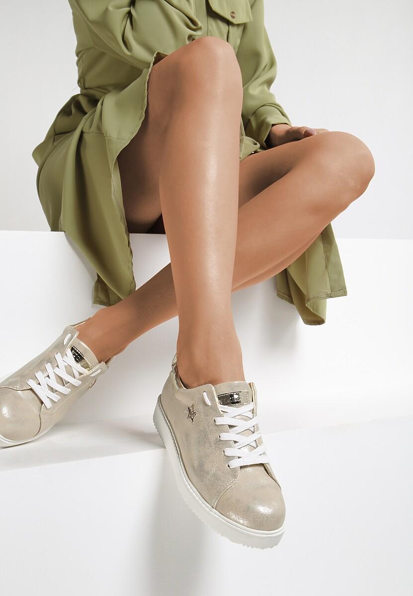 Złote Buty Sportowe By The Time
