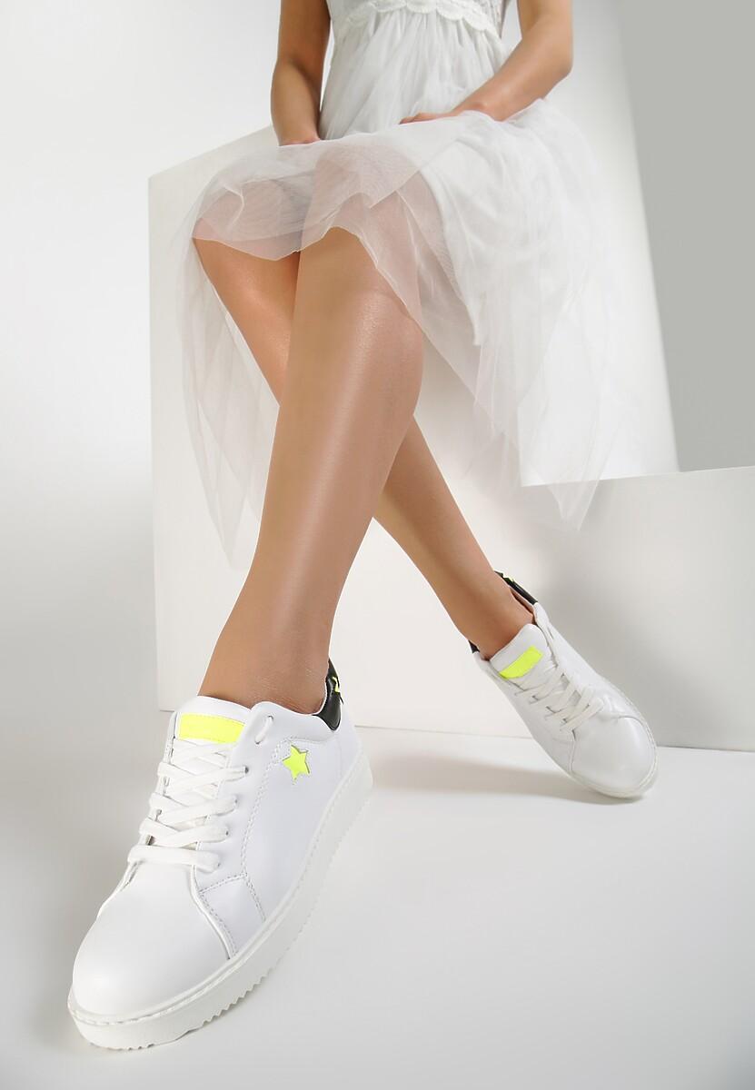 Biało-Limonkowe Buty Sportowe Missing You