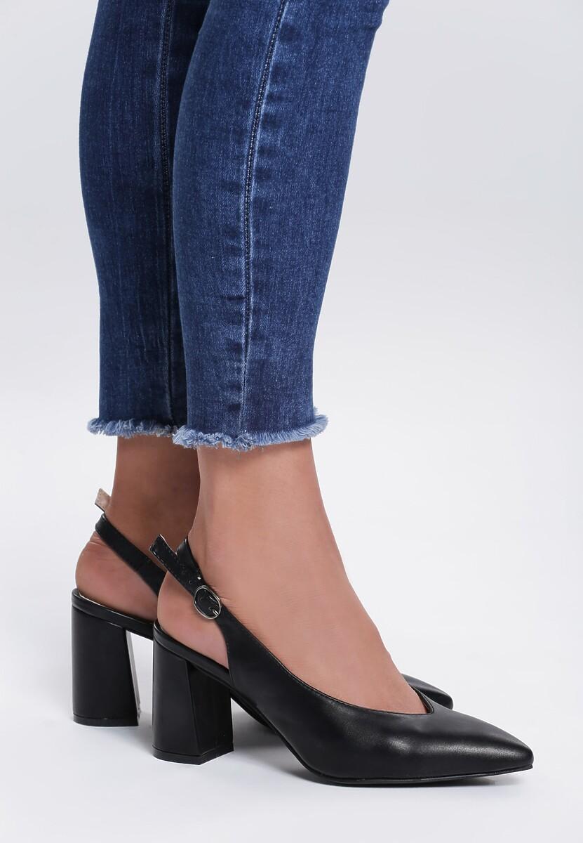 Czarne Sandały Te Amo