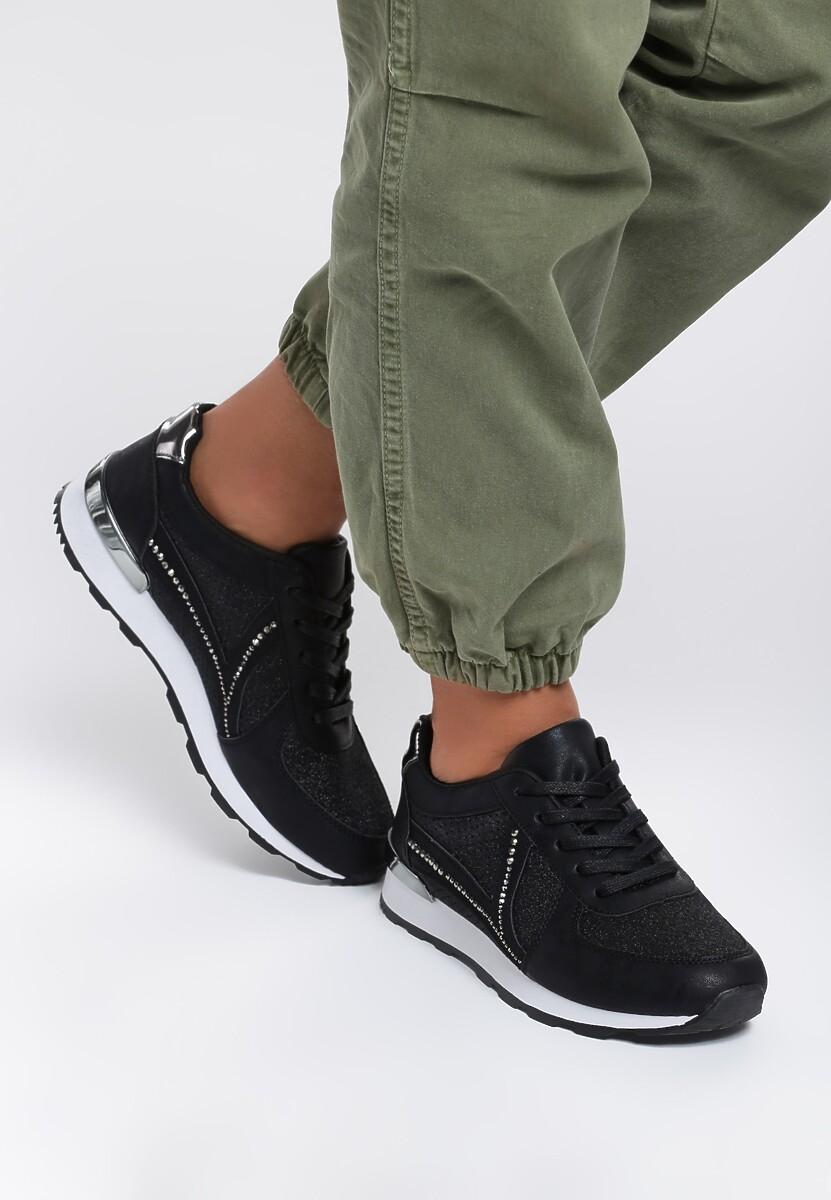 Czarne Sneakersy Wake Up Call