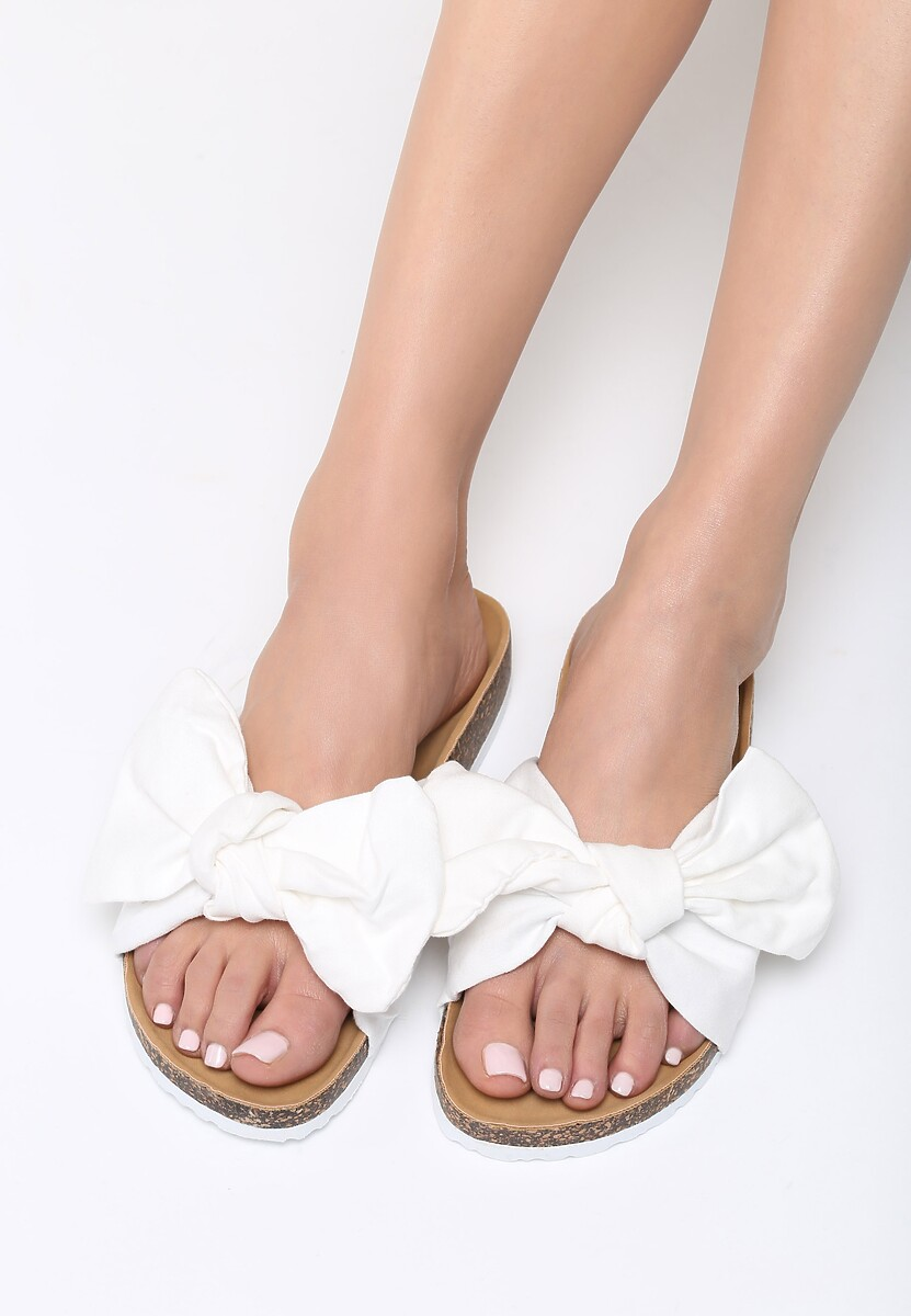Białe Klapki Margherita