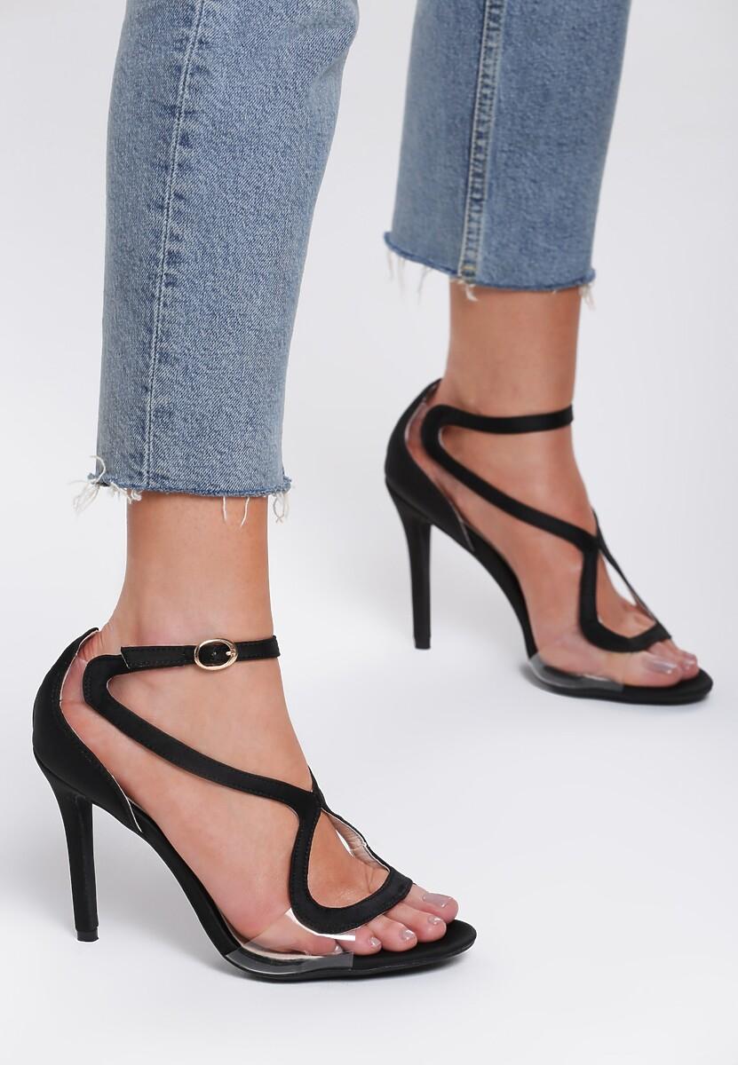 Czarne Sandały Bubbly