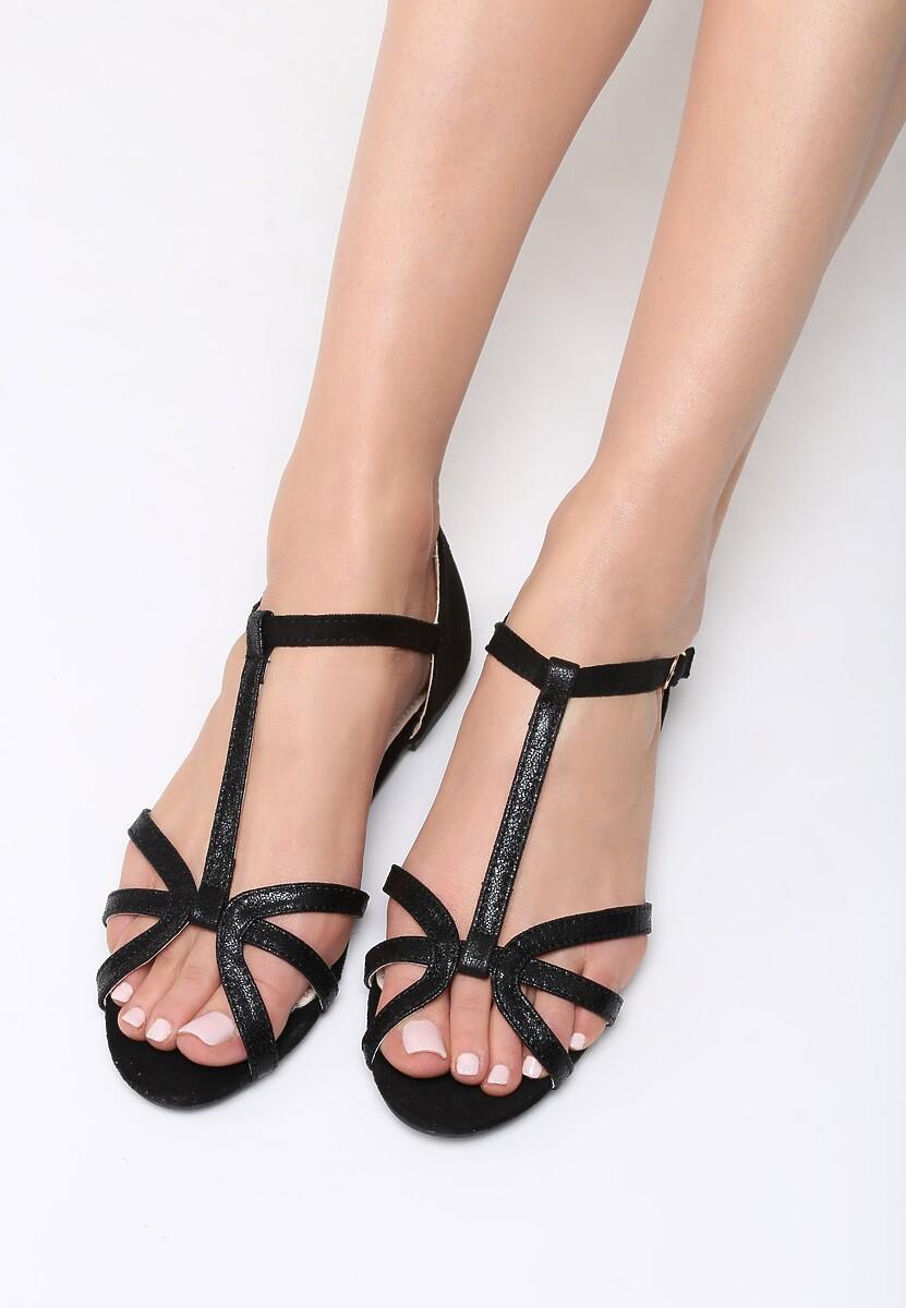 Czarne Sandały Lash Out