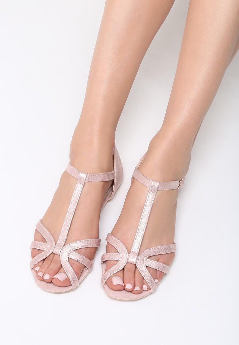 Różowe Sandały Lash Out