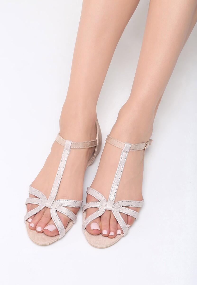 Beżowe Sandały Lash Out