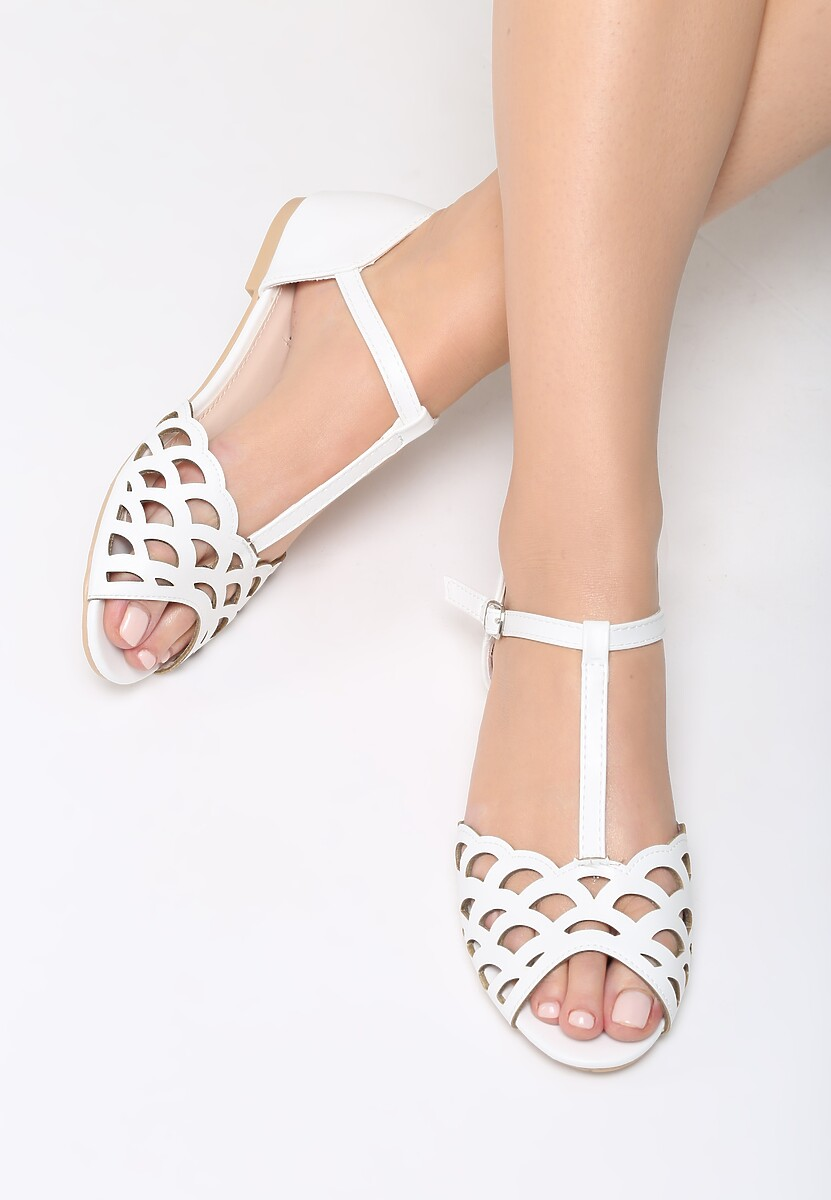 Białe Sandały Cinnabar