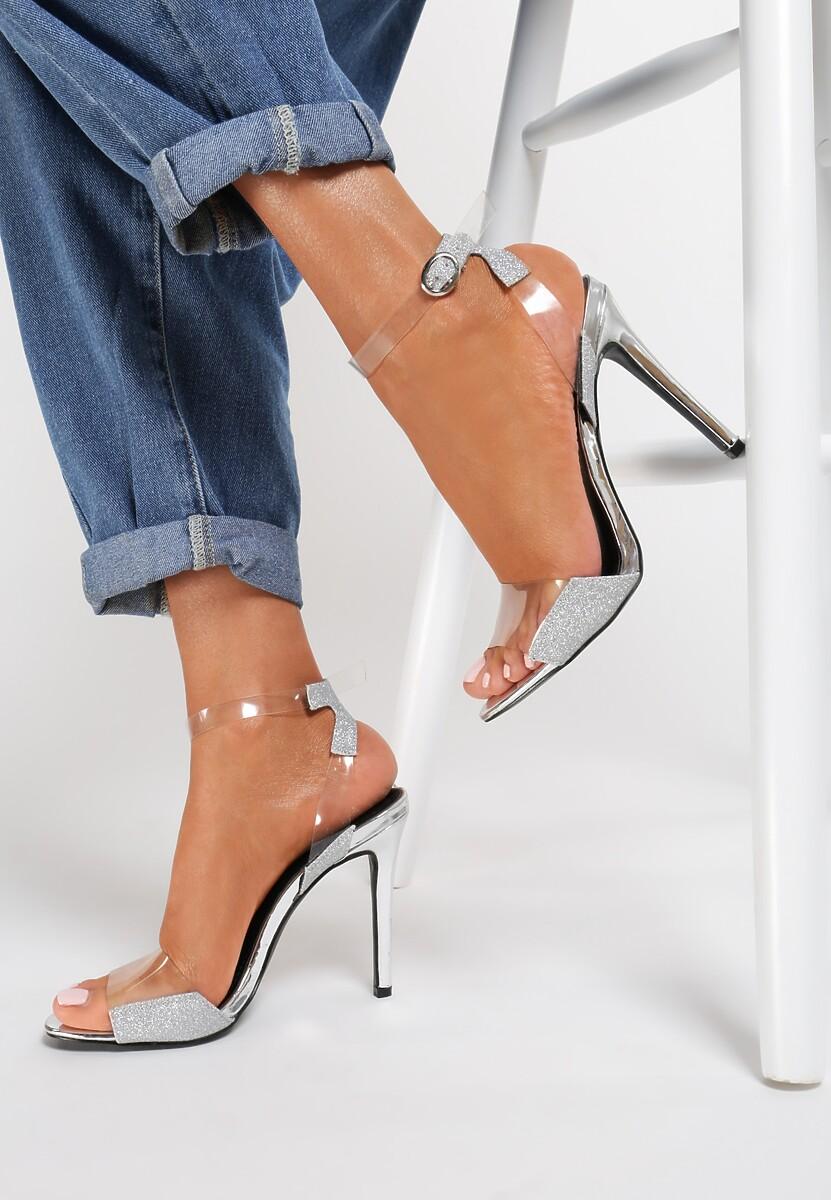 Srebrne Sandały Eraser