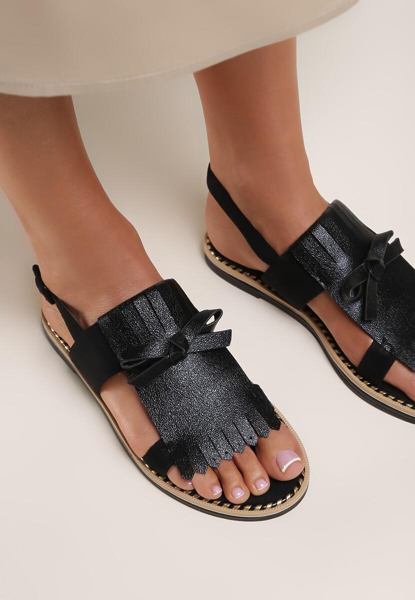 Czarne Sandały Charcoal Black