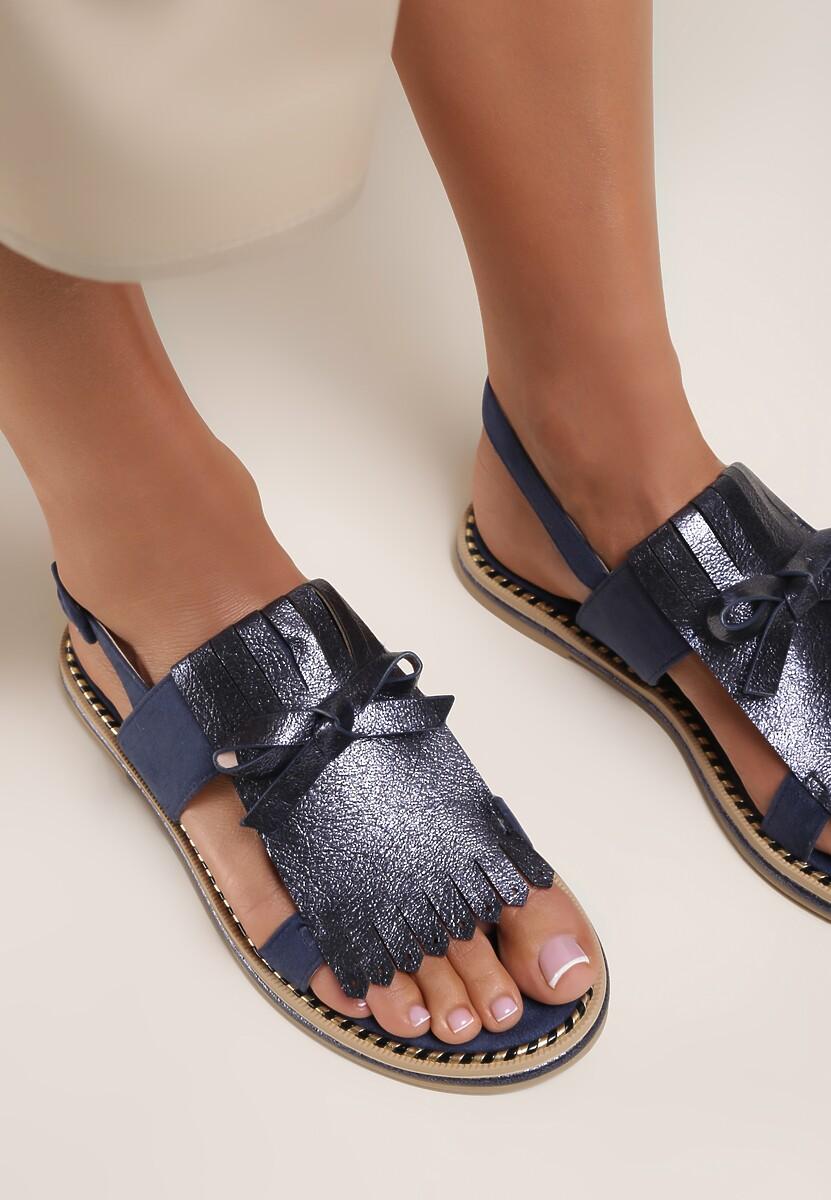 Niebieskie Sandały Charcoal Black