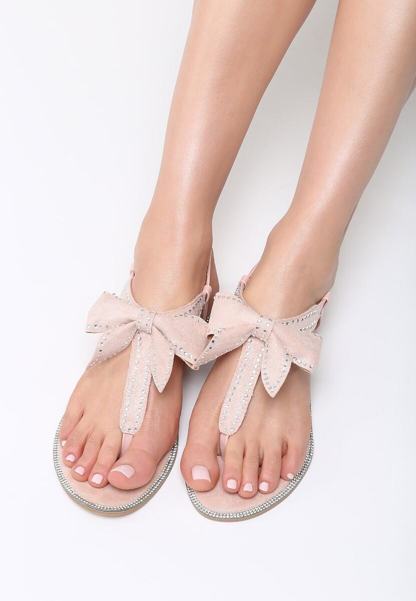 Różowe Sandały Set Me On