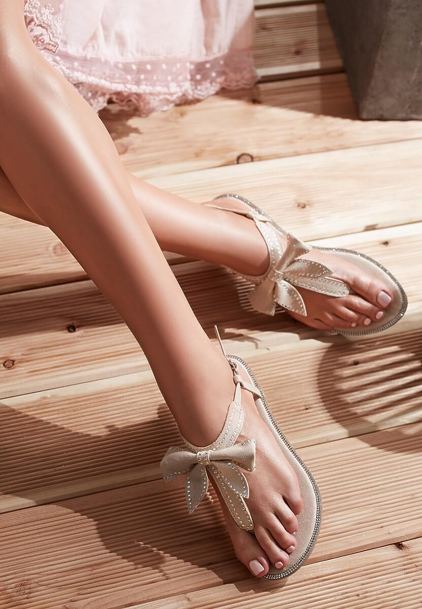 Beżowe Sandały Set Me On