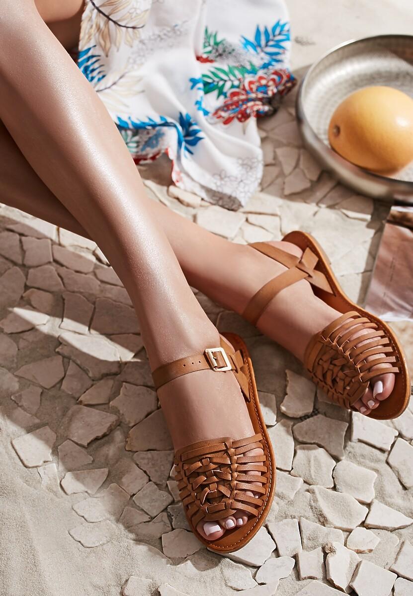 Brązowe Sandały Outsider