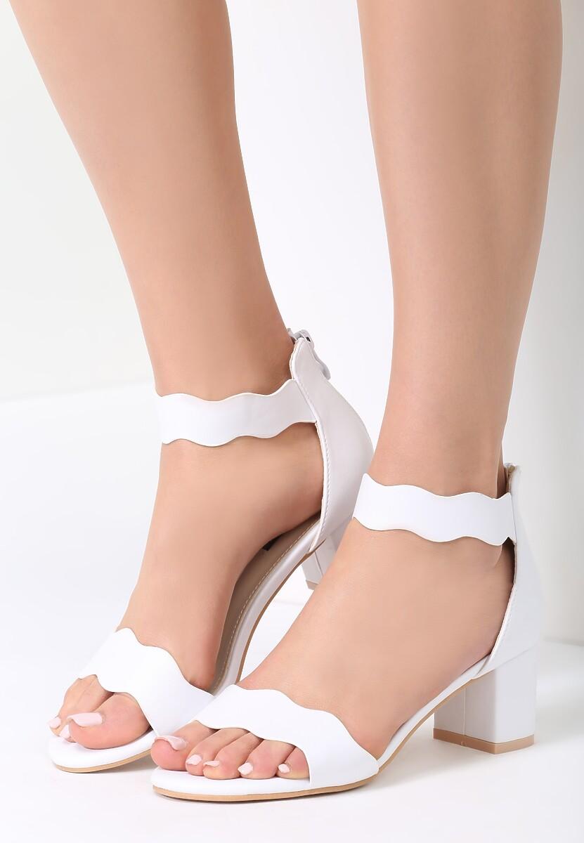 Białe Sandały Back And Relax