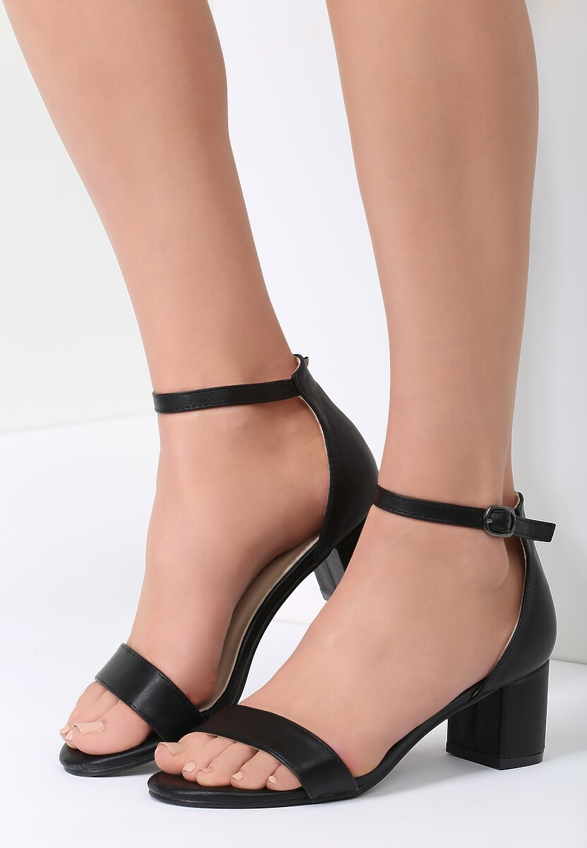 Czarne Sandały Miami Jump