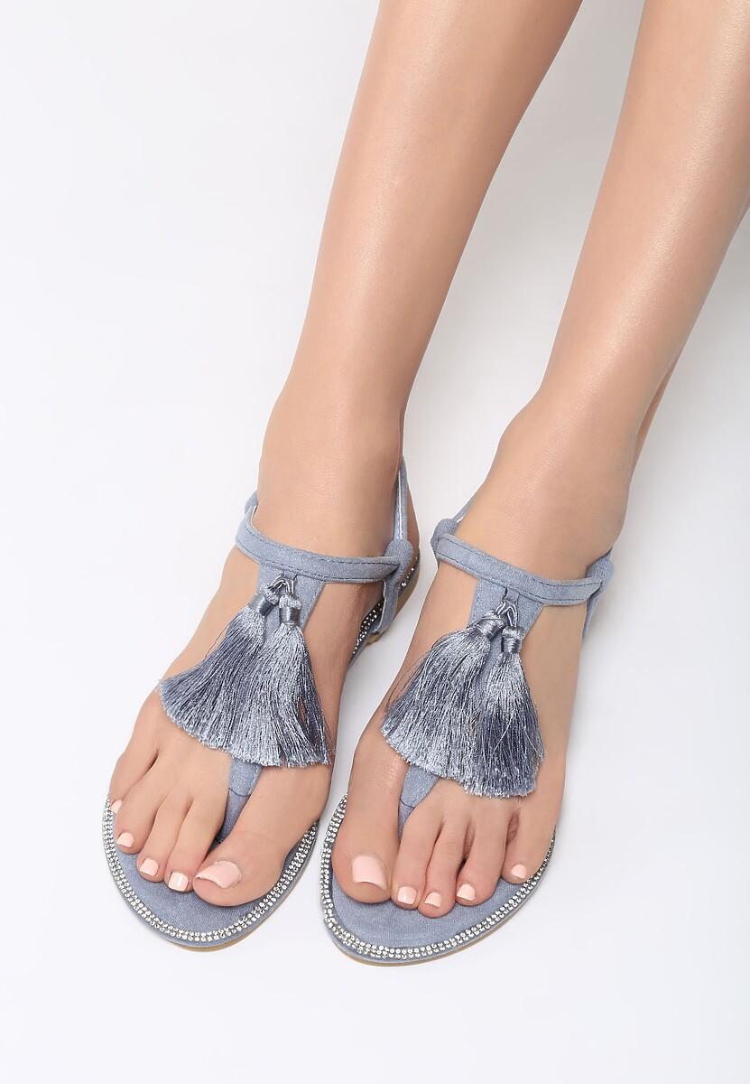 Niebieskie Sandały Try Your Luck