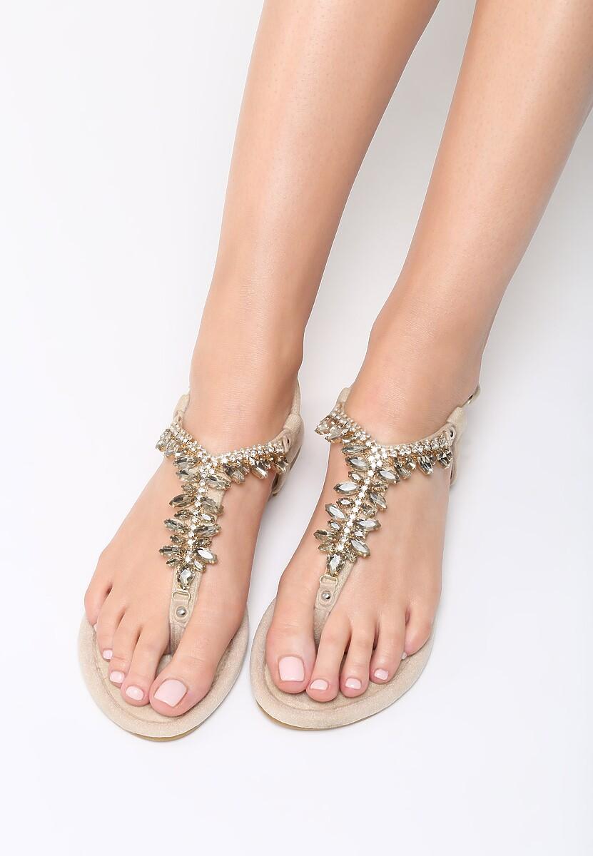Beżowe Sandały French Kissin