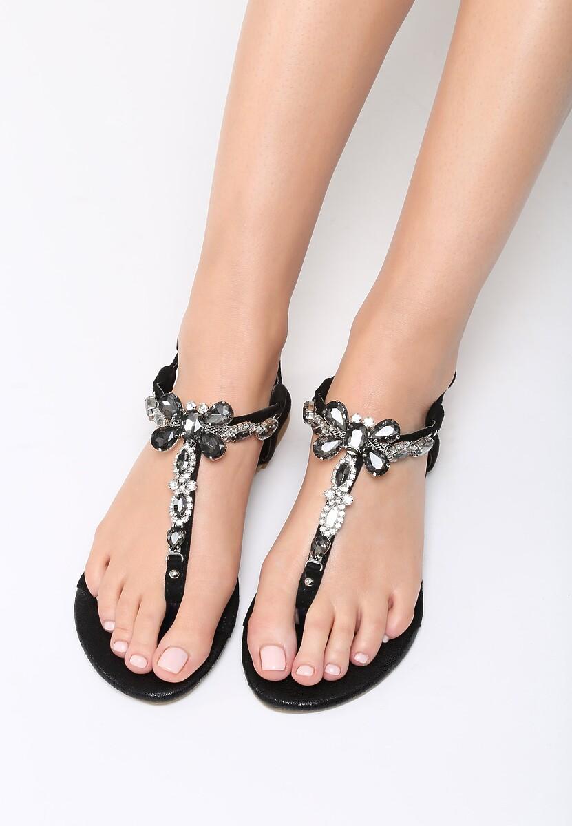 Czarne Sandały Joyous
