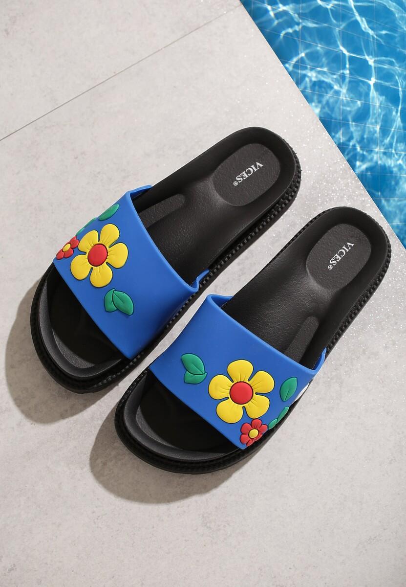 Niebieskie Klapki Plunge Pool