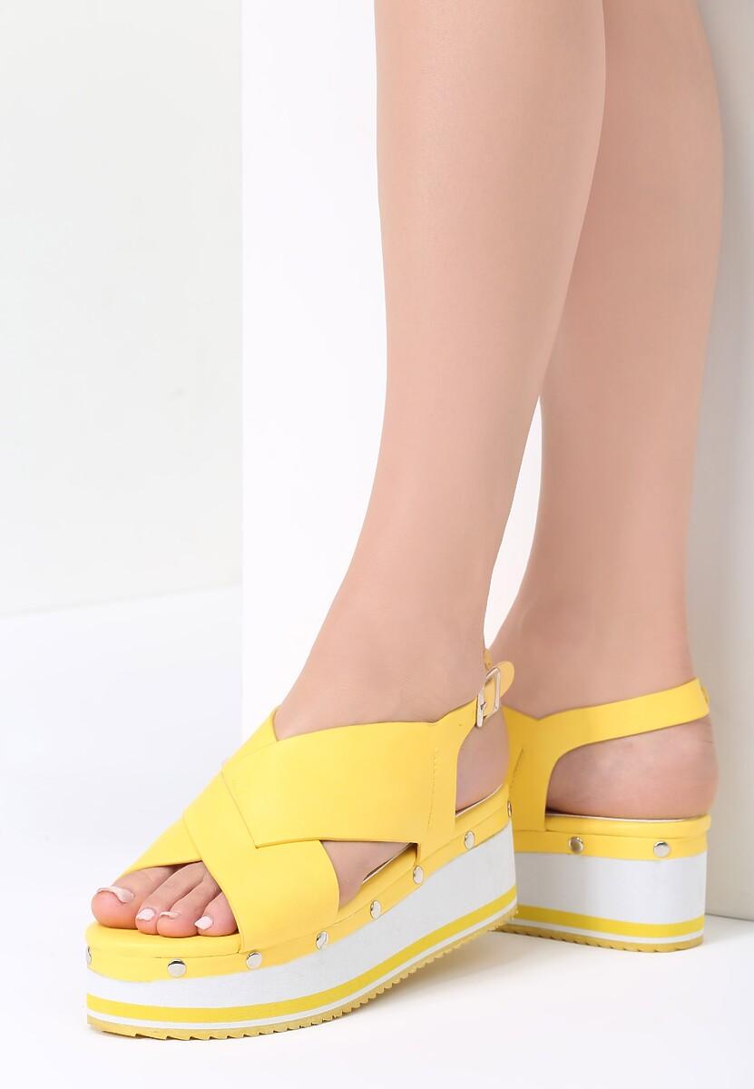 Żółte Sandały Sunglow
