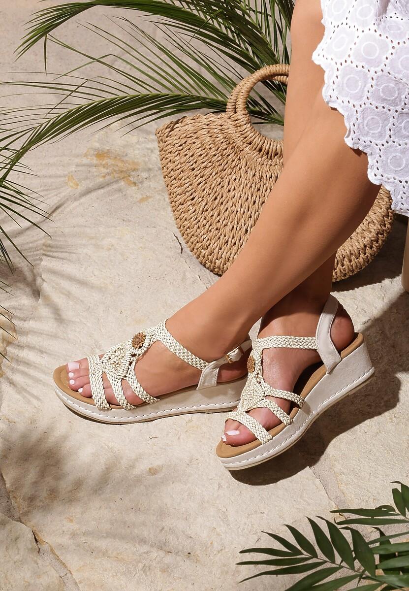 Beżowe Sandały See-Through